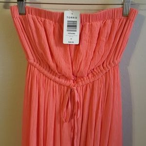 NWT Torrid strapless maxi dress
